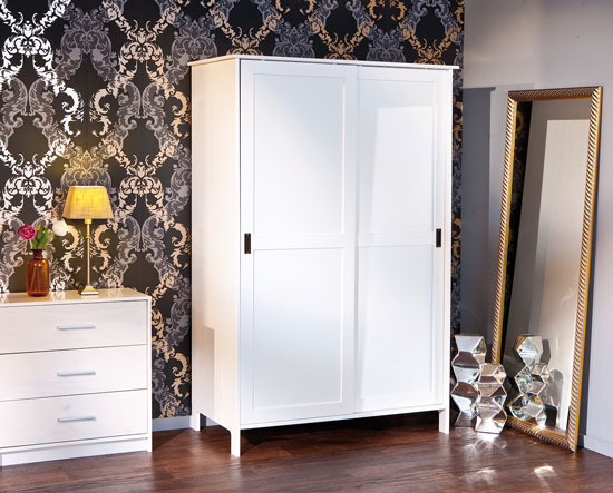 schiebet renschrank mafra mit schiebet r wei ebay. Black Bedroom Furniture Sets. Home Design Ideas